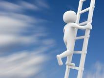 3d povos - homem, pessoa e escada Fotos de Stock
