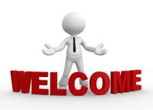 Boa vinda Fotografia de Stock Royalty Free