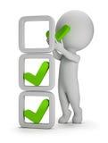 3d povos pequenos - a instalação de marcas de verificação Imagens de Stock