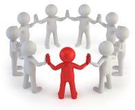 3d povos pequenos - líder Imagem de Stock