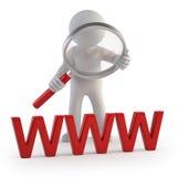 3d povos pequenos - WWW Imagem de Stock Royalty Free