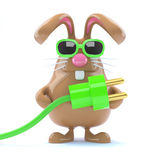 3d Power bunny Royalty Free Stock Photography