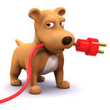 3d Power puppy Royalty Free Stock Photo