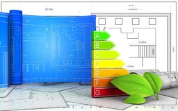3d of power ranks. 3d illustration of power ranks with drawing roll over blueprint background Stock Photography