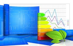 3d of power ranks. 3d illustration of power ranks with drawing roll over business graph background Royalty Free Stock Photography