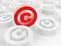 3d prawa autorskiego ilustracja odpłacający się symbol Zdjęcia Stock