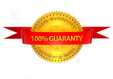 3d 100 precent guaranty on a white background Royalty Free Stock Images