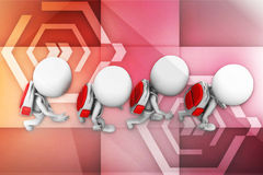 3d  Preschool Kids Going to School illustration Royalty Free Stock Photography