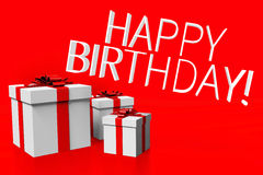 3D, present boxes, gift, Happy birthday Royalty Free Stock Images