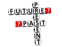 3D Present Future Past Crossword Stock Photography