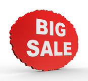 3d presentation of big sale concept Stock Photos
