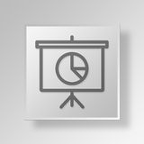 3D presentation pie chart icon Business Concept. 3D Symbol Gray Square presentation pie chart icon Business Concept Royalty Free Stock Photos