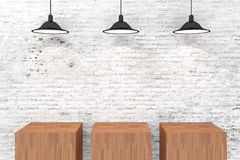 3d vintage setup. 3d presentation vintage wall setup stock illustration