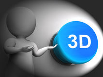 3d Pressed Means Three Dimensional Object Or Image Royalty Free Stock Photos
