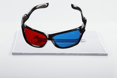 3D Print: anaglyphic Red Blue glasses and wrench. Royalty Free Stock Photography
