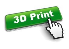 3d print concept 3d illustration isolated. On white background Royalty Free Stock Image