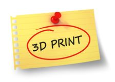 3d print concept 3d illustration isolated. On white background Stock Photos