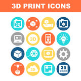 3D print icon Stock Photography