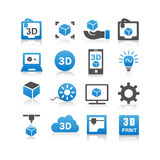 3D print icon Stock Images