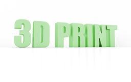 3D print Stock Image