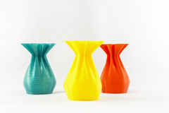 3D print object vase Royalty Free Stock Photography