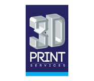 3D Print Service Logo Design. EPS 10 supported Royalty Free Stock Photo