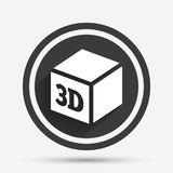 3D Print sign icon. 3d cube Printing symbol. Stock Images
