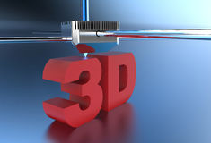 3D printed 3D sign Royalty Free Stock Photography