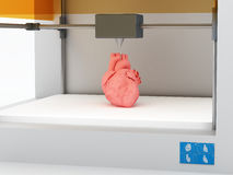 3d printed human heart Stock Photo