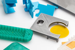 3D Printed object ftom Pla material. 3D modeling and printing of rapid prototypes Royalty Free Stock Photo