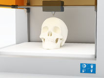 3d printed skull Royalty Free Stock Image