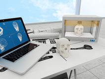 3d printed skull Stock Photography
