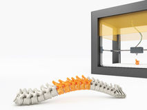3d printed spine Royalty Free Stock Photo