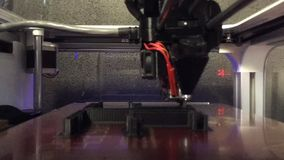 3D Printer in action. The latest cutting edge technology, the 3D printer. This can produce prototype of part before going to mass produce