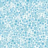 3d printer blauw naadloos patroon royalty-vrije illustratie