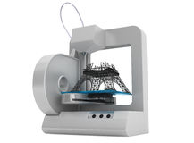 3d printer build Eiffel Tower Model Stock Photography