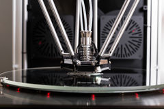 3D printer in closeup. Printing an object Royalty Free Stock Photography