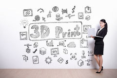3D printer concept Royalty Free Stock Image