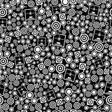 3d printer dark seamless pattern Stock Photography