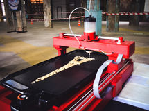 3d printer die druk een vloeibaar deeg Stock Afbeeldingen