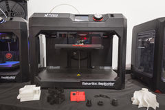 3D printer on display at Fuorisalone during Milan Design Week 20 Royalty Free Stock Photos