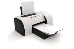 3d printer and documents Stock Image