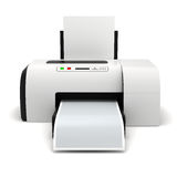 3d printer and documents Stock Photo