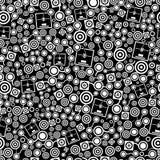3d printer donker naadloos patroon vector illustratie