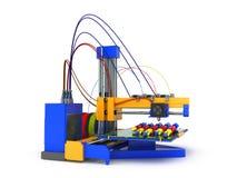 3d printer drukt een model van hand-drukkend proces van een hand pro Stock Foto