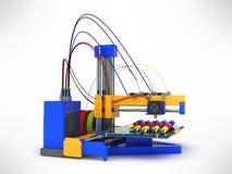 3d printer drukt een model van hand-drukkend proces van een hand pro Royalty-vrije Stock Afbeelding