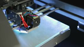 3D printer drukt punt stock footage