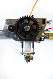 3D printer extruder. The extruder head on a k8200 3d-printer Stock Photo