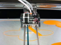 3D Printer (FDM). Fused deposition modeling (FDM) is an additive manufacturing technology commonly used for modeling, prototyping, and production applications royalty free stock images