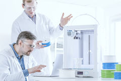 3D printer with filament Royalty Free Stock Images